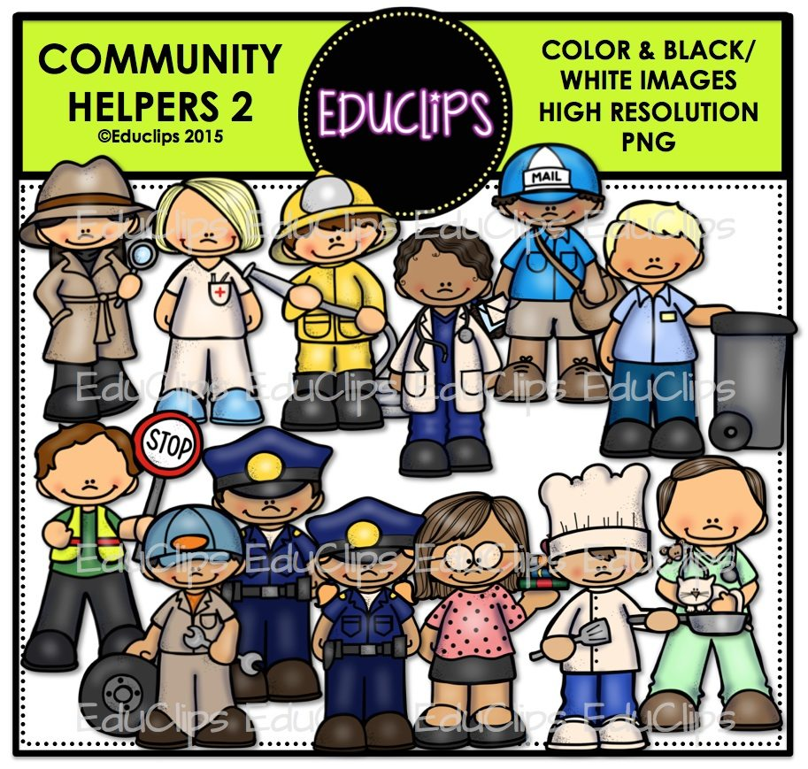 community helpers 2 bundle color and b u0026w welcome to educlips store