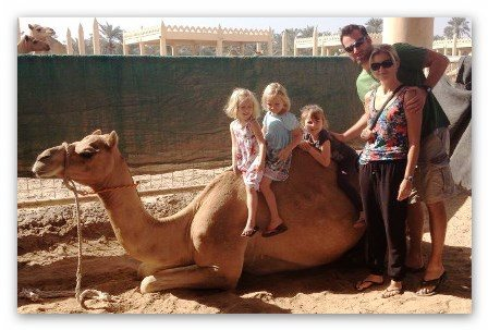 family on camel