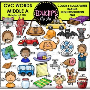 CVC Words Middle A