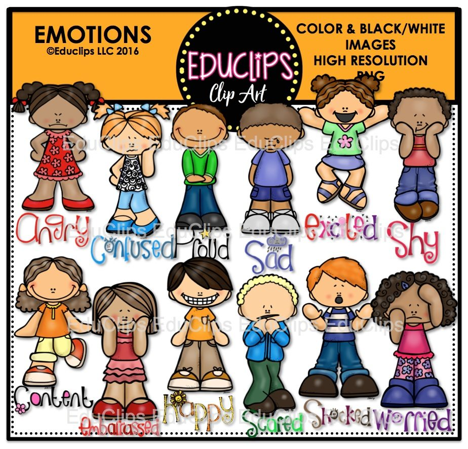 Clip Art Emotions Clipart emotions clip art bundle color and bw welcome to educlips store emotions