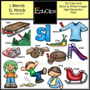 L Blends SL Words