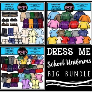 Dress me- School Uniforms Bundle
