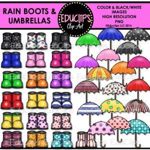 Rain Boots Umbrellas