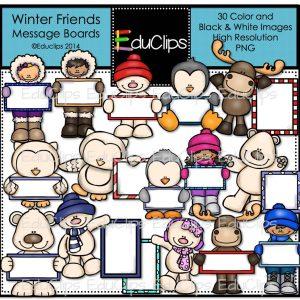 Winter Friends Messaage Boards