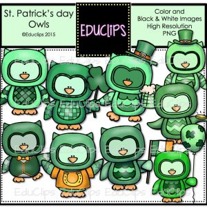 St Patrick's Day Owls