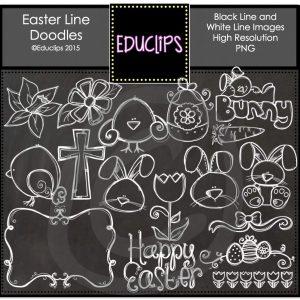 Easter Line Doodles