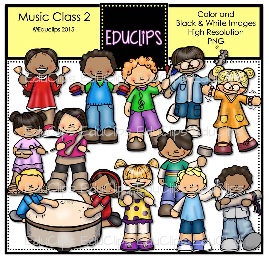 music class 2 clip art bundle  color and b w  welcome to Classroom Clip Art Computer Lab Clip Art