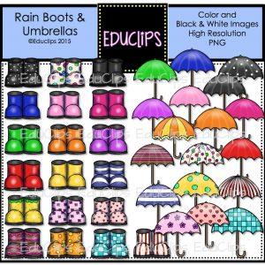 Rain Boots & Umbrellas