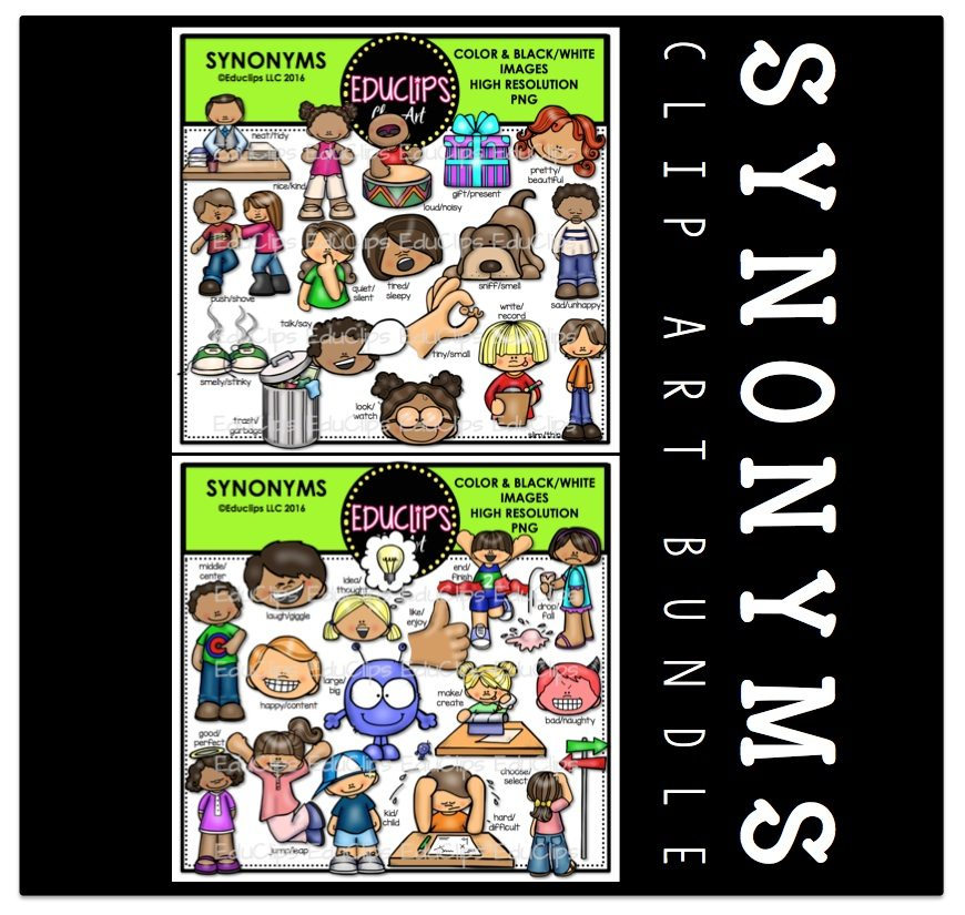synonyms clip bundle welcome educlips clips edu arts