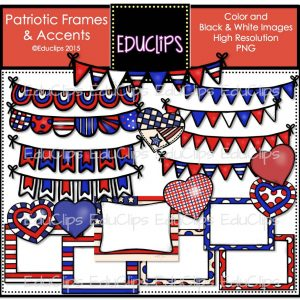 Patriotic Frames and Accents