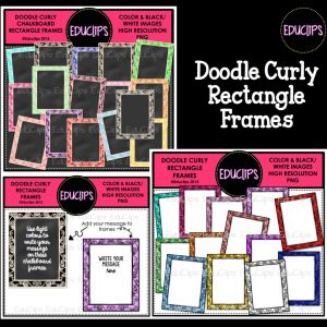 Doodle Curly Rectangle Frames