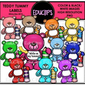 Teddy Tummy Labels