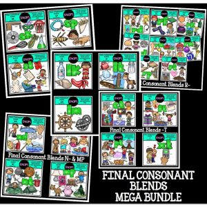 Final Consonant Blends Mega Bundle