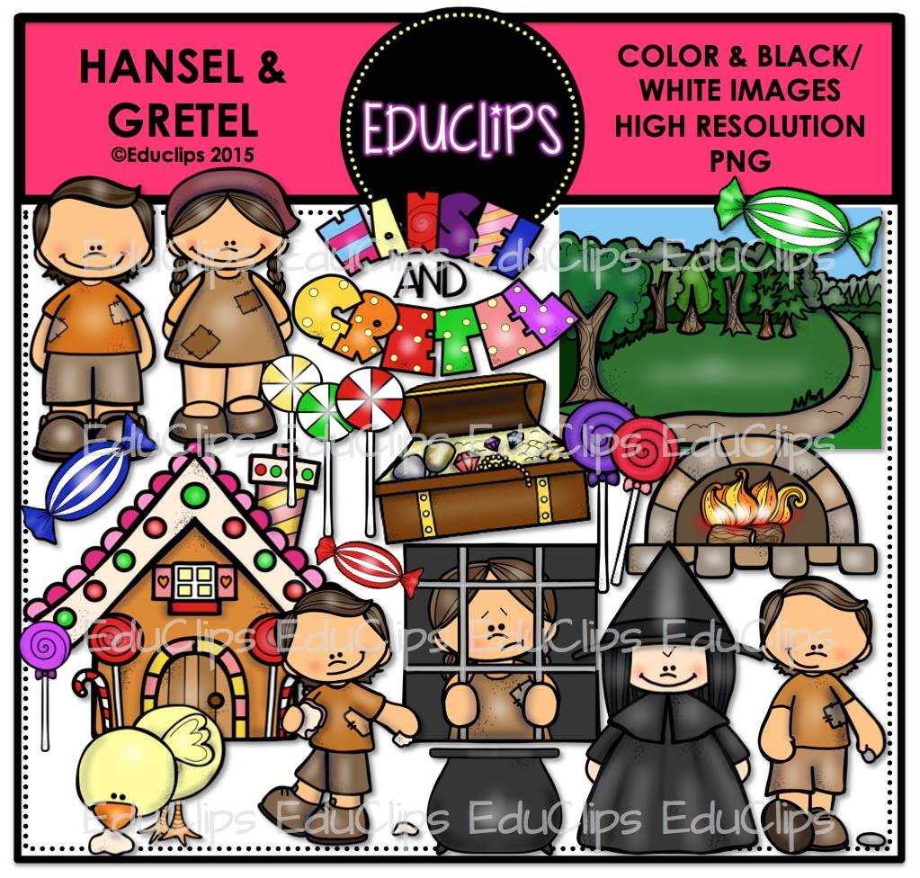 hansel and gretel clip art bundle color and b u0026w welcome to