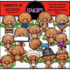 Turkeys At School