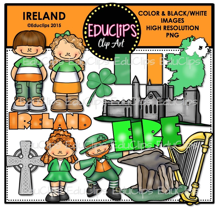 ireland clip art bundle color and b u0026w welcome to educlips store