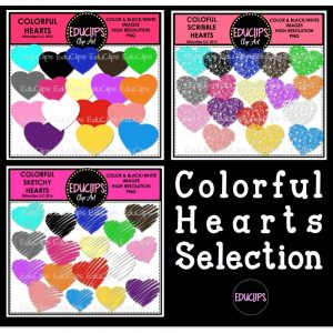 Colorful Hearts Selection