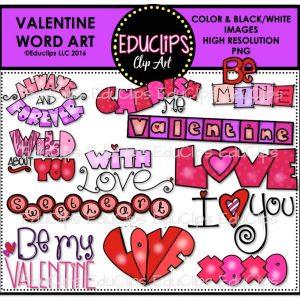Valentine Word Art