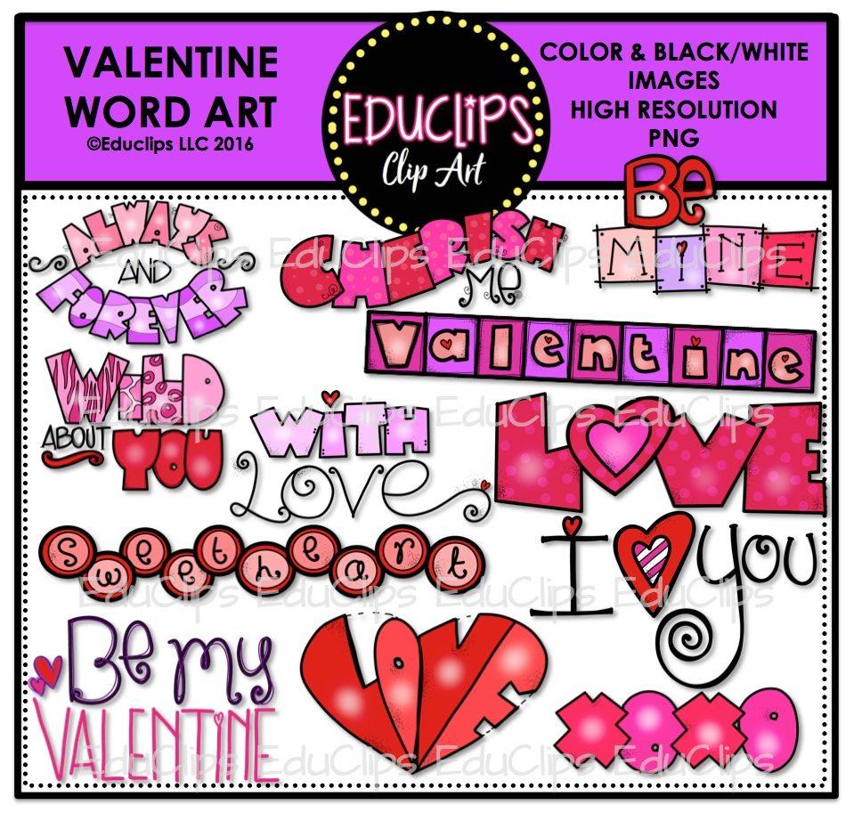valentine sweetheart clip art mega bundle color and b u0026w
