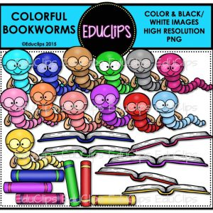 Colorful Bookworms