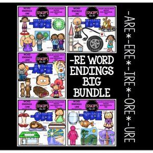 -RE Word Endings Big Bundle