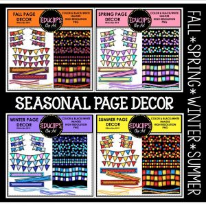 Seasonal page decor
