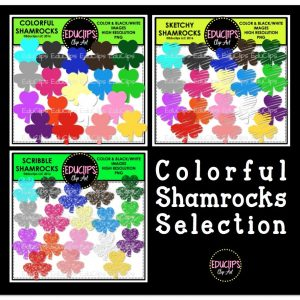 Colorful Shamrocks Selection