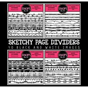 Sketchy Page Dividers
