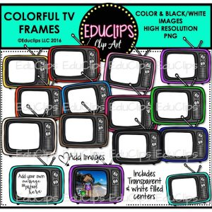 Colorful TV Frames