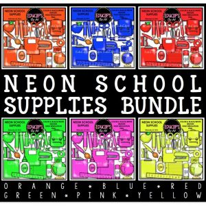 Neon School Supplies Bundle