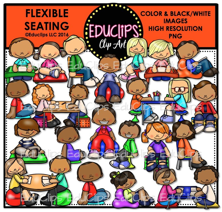 Flexible Seating Clip Art Bundle Color And B Amp W Welcome
