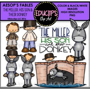 The Miller, His Son & Their Donkey