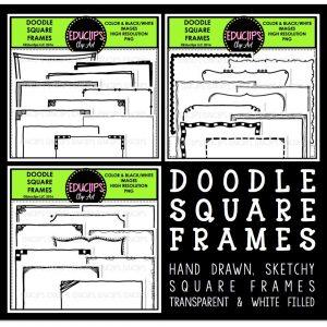 doodle-square-frames-bundle