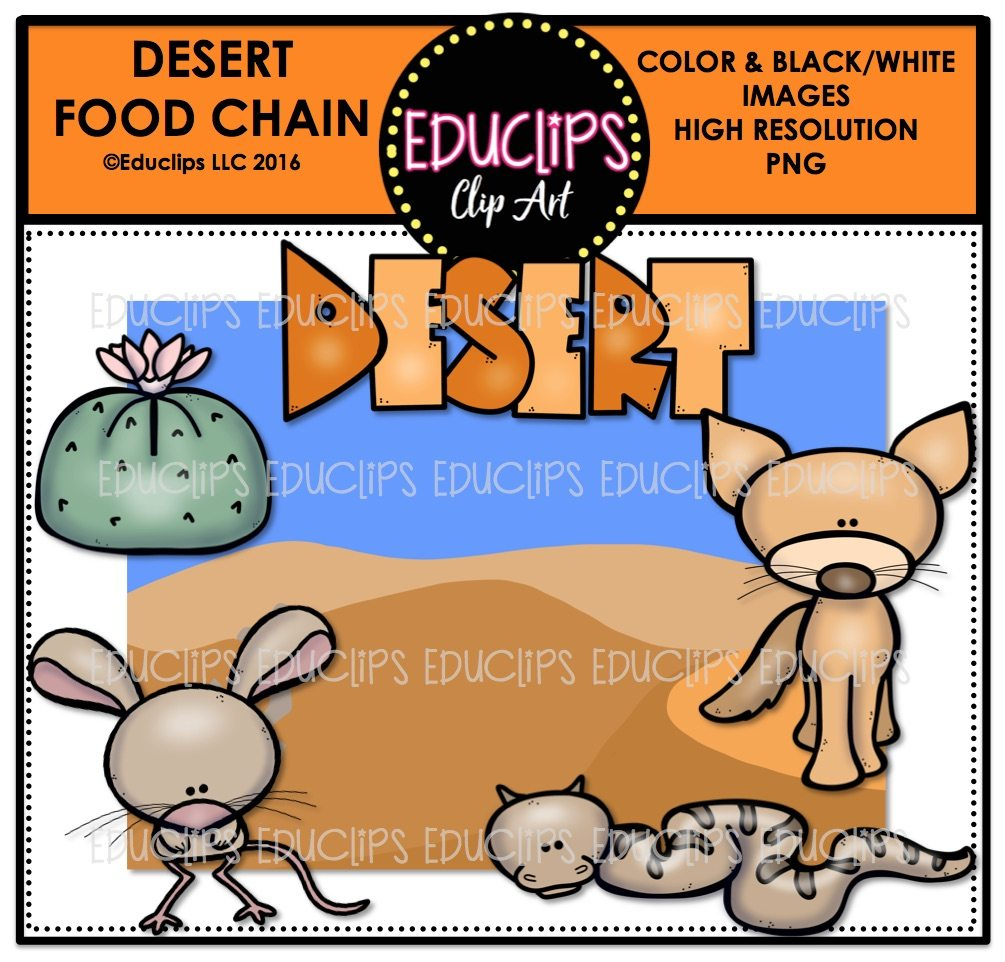 Home / Products / Desert Food Chain Clip Art Mini Bundle (Color and B ...