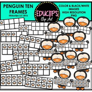 penguin-ten-frames