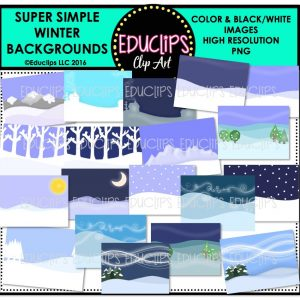 super-simple-winter-backgrounds