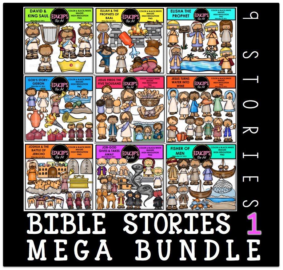Bible Stories 1 Clip Art Mega Bundle Clip Art Bundle (Color and ...