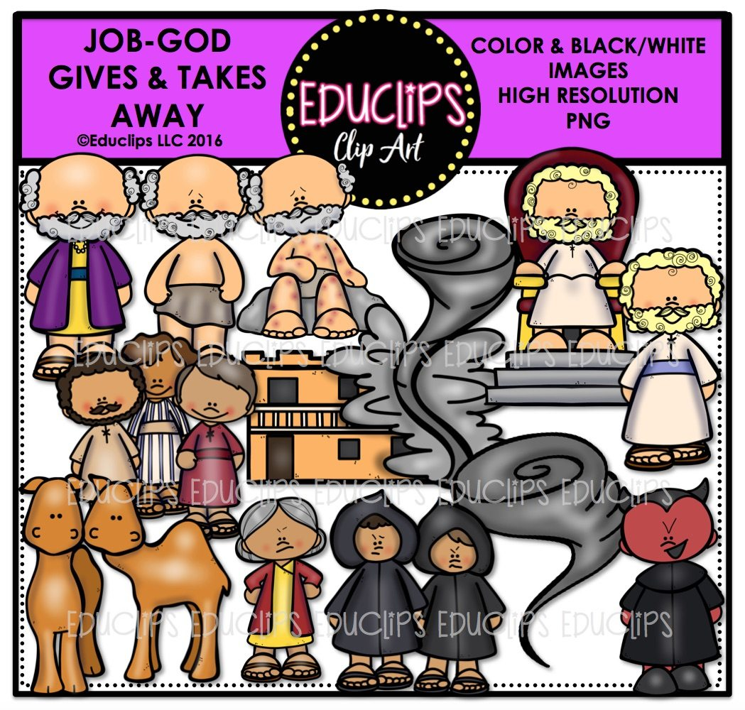 Bible Stories – Job: God Gives & Takes Away Clip Art Bundle (Color ...