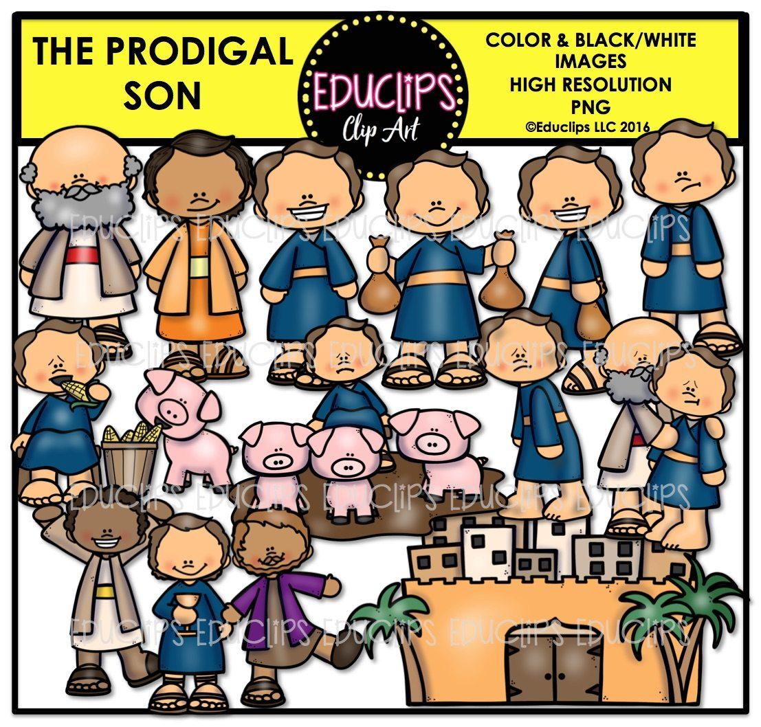 bible stories u2013 the prodigal son clip art bundle color and b u0026w