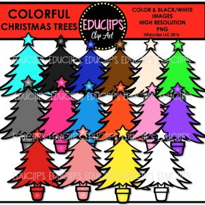 colorful-christmas-trees