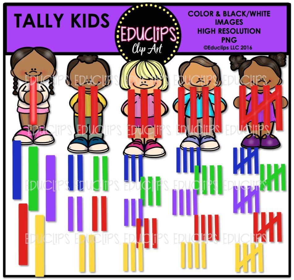 kids using numbers clip art big bundle color and b u0026w welcome