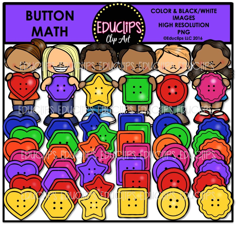 Math Manipulatives Clip Art Bundle (Color and B&W ...