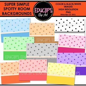 Super Simple Spotty Room Backgrounds