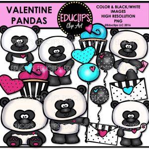 Valentine pandas