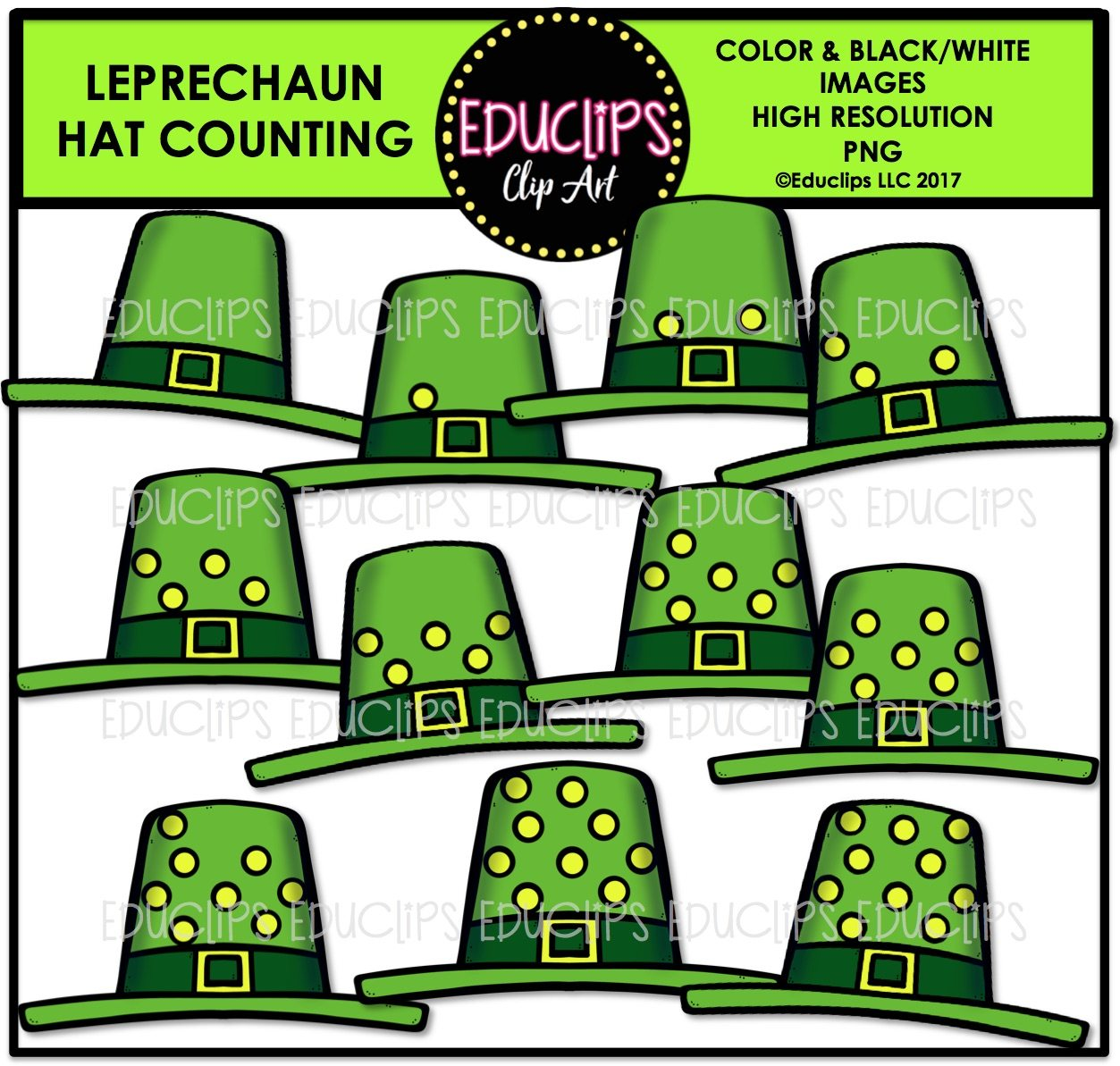 leprechaun hat counting clip art color and b u0026w welcome to