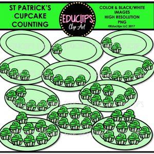 St Patrick' Cupcake Counting