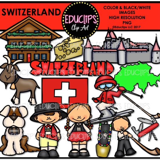 Switzerland Clip Art Bundle Color And B Amp W Welcome To