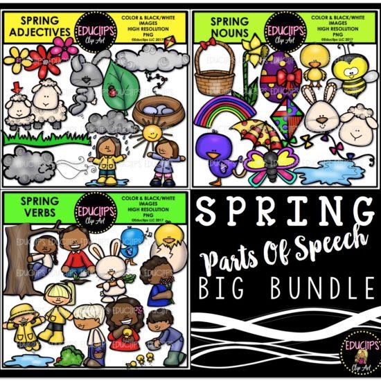 Spring Parts Of Speech Big Bundle