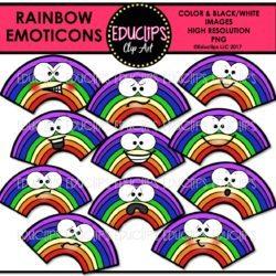 Rainbow Emoticons