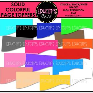 Solid Colorful Page Toppers